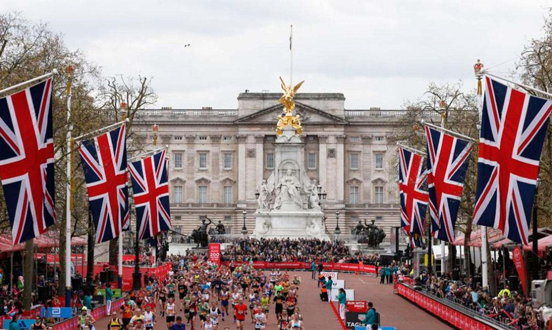 Llegada a meta en la maratón de Londres